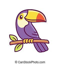 Cartoon toucan drawing