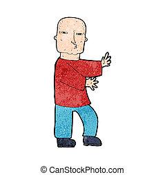 cartoon tough man