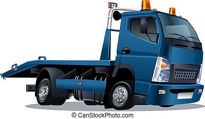 Cartoon tow truck isolated on white background. Available ...