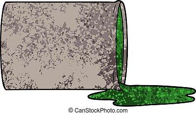 cartoon toxic waste