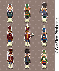 cartoon Toy soldiers stickers