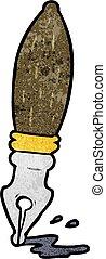 cartoon traditional fountain pen