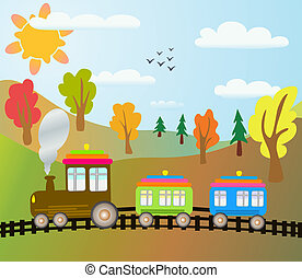 cartoon train