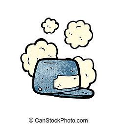 cartoon train driver hat