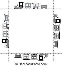 Cartoon train frame