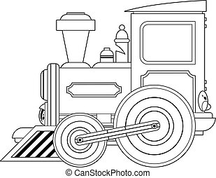 Cartoon Train Outline