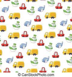 cartoon transport pattern