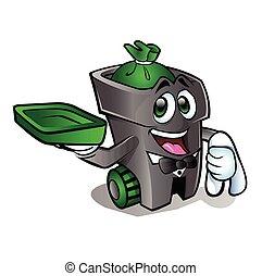 cartoon trash can.
