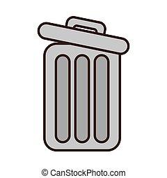 cartoon trash can web garbage information