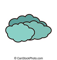 cartoon travel cloud weather concept