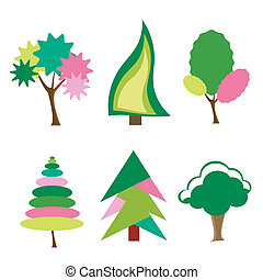 cartoon tree icons