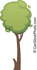 Cartoon tree  illustration isolated on white background