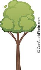 Cartoon tree illustration isolated on white background