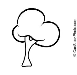 cartoon tree outlinevector symbol icon design. Beautiful illustration isolated on white background