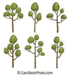 Cartoon Tree Set