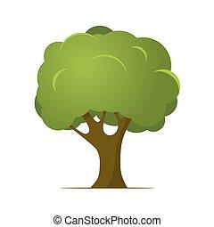 Cartoon Tree. Vector