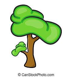 cartoon tree vector symbol icon design. Beautiful illustration isolated on white background
