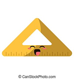 cartoon triangle ruler school