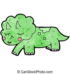 cartoon triceratops dinosaur