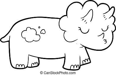 cartoon triceratops