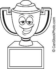 Cartoon trophy cup