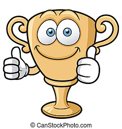 Cartoon Trophy - Vector illustration of cartoon Trophy
