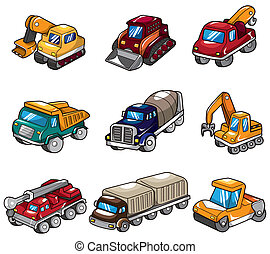 cartoon truck icon  - cartoon truck icon