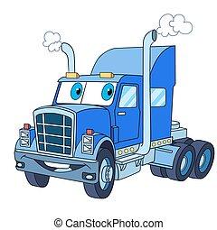 cartoon truck lorry - Cartoon vehicle transport. Heavy semi ...