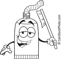 Cartoon tube of toothpaste
