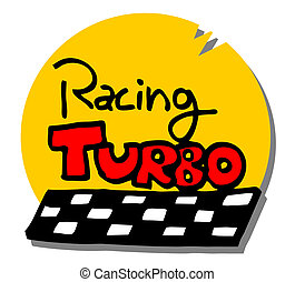 Cartoon turbo icon
