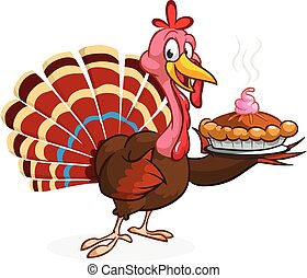 Cartoon turkey character. Thanksgiving clipart