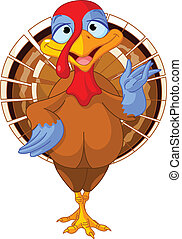 Cartoon turkey - Illustration of a cartoon turkey