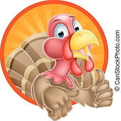 Cartoon Turkey Mascot