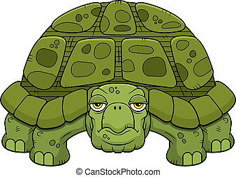 Cartoon Turtle - A cartoon green turtle standing and...