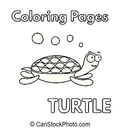 Cartoon Turtle Coloring Book