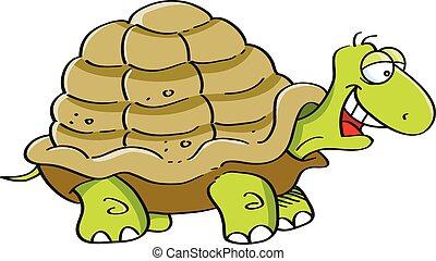 Cartoon Turtle - Cartoon illustration of a happy turtle.