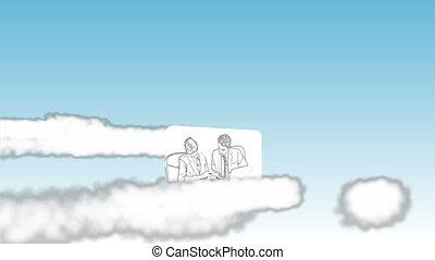Cartoon type videos of business in