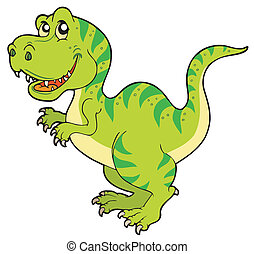 Cartoon tyrannosaurus rex - vector illustration.