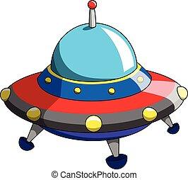 Cartoon ufo alien ship craft