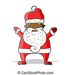 cartoon ugly santa claus