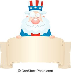 Cartoon Uncle Sam Banner