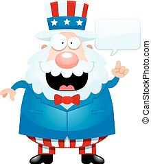 Cartoon Uncle Sam Talking