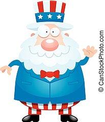 Cartoon Uncle Sam Waving