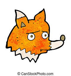 cartoon unhappy fox