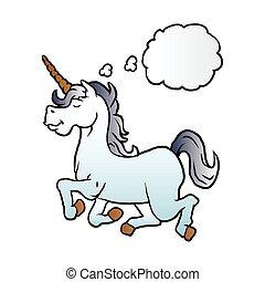 cartoon unicorn .