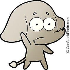 cartoon unsure elephant