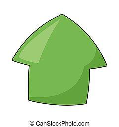 cartoon up arrow icon
