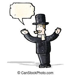 cartoon upper class man