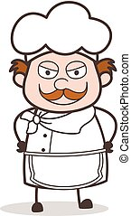 Cartoon Upset Chef Face Expression