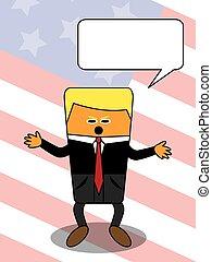 Cartoon US president